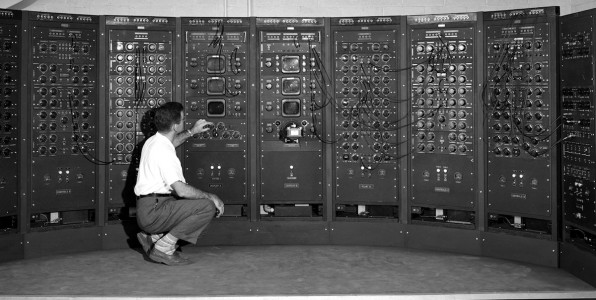 Analog Computing Machine in Fuel Systems Building Lewis Flight Propulsion Lab-NASA