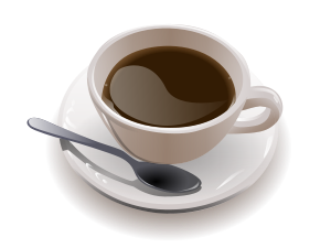 Cup of coffee. SVG rendering by User:Peewack. Original photo by Julius Schorzman (User:Quasipalm) on Wikimedia Commons. Creative Commons Attribution ShareAlike 2.0