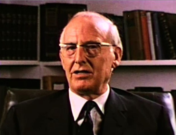 Wilfred Brown, ca. 1970. From the Glacier Institute of Management's film series