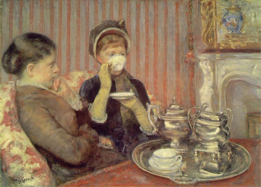 Tea. Mary Cassat, 1879-80. Via Wikimedia