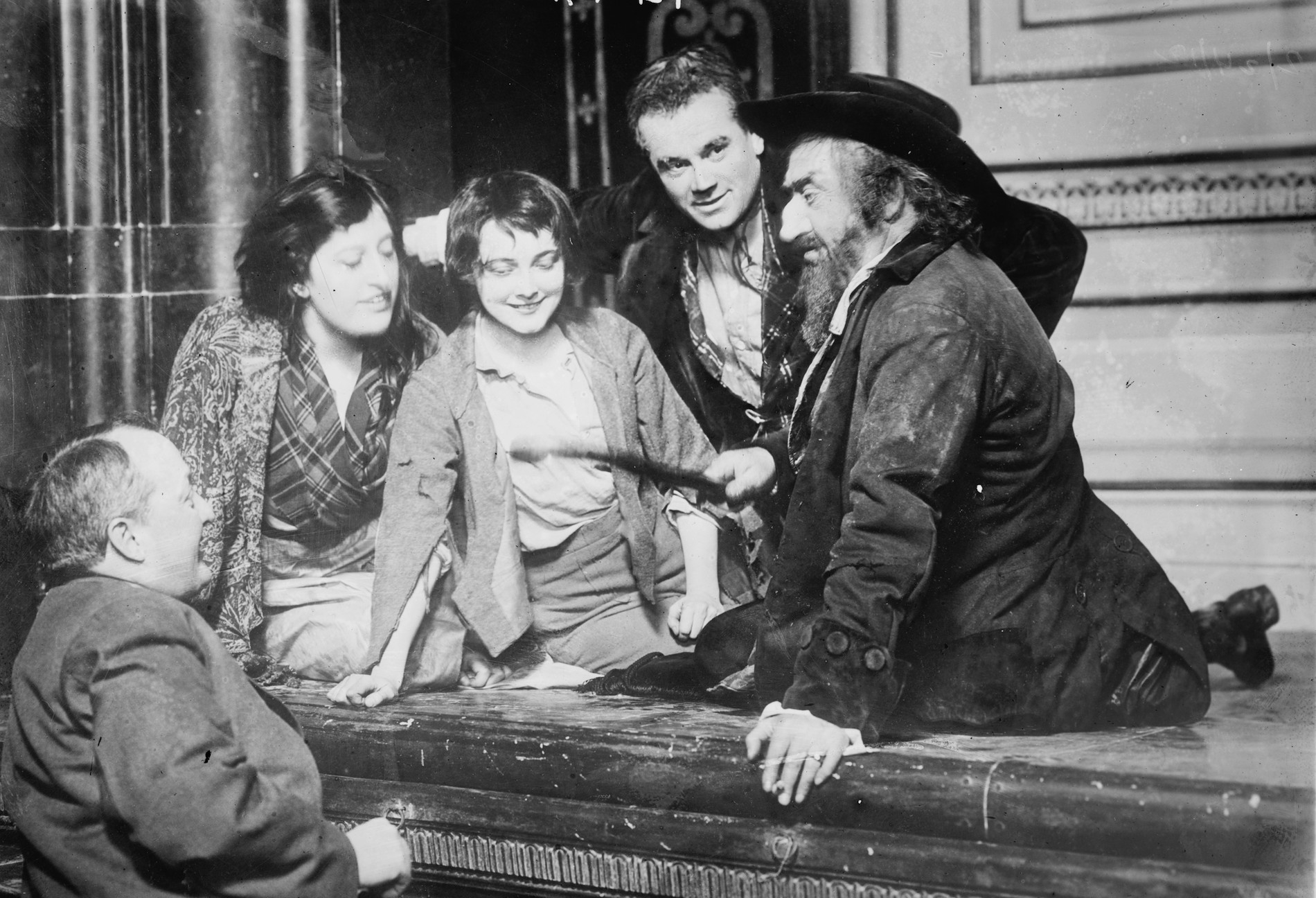 At rehearsal of Oliver Twist (Broadway, ca 1912). Bain News Service via Library of Congress.