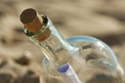 Message in a bottle. Licensed through 123rf.com