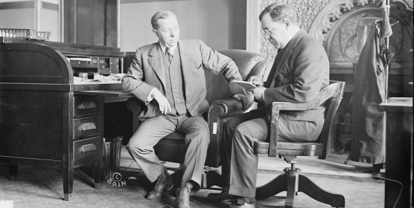 Gov. Martin Henry Glynn with his secretary, Frank Tierney ca. 1913, By Bain News Service via Library of Congress