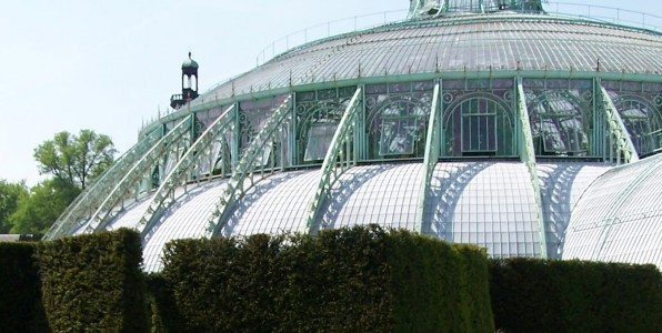 Dome of the Belgian royal greenhouses in Laeken (external). (c) E. Forrest Christian
