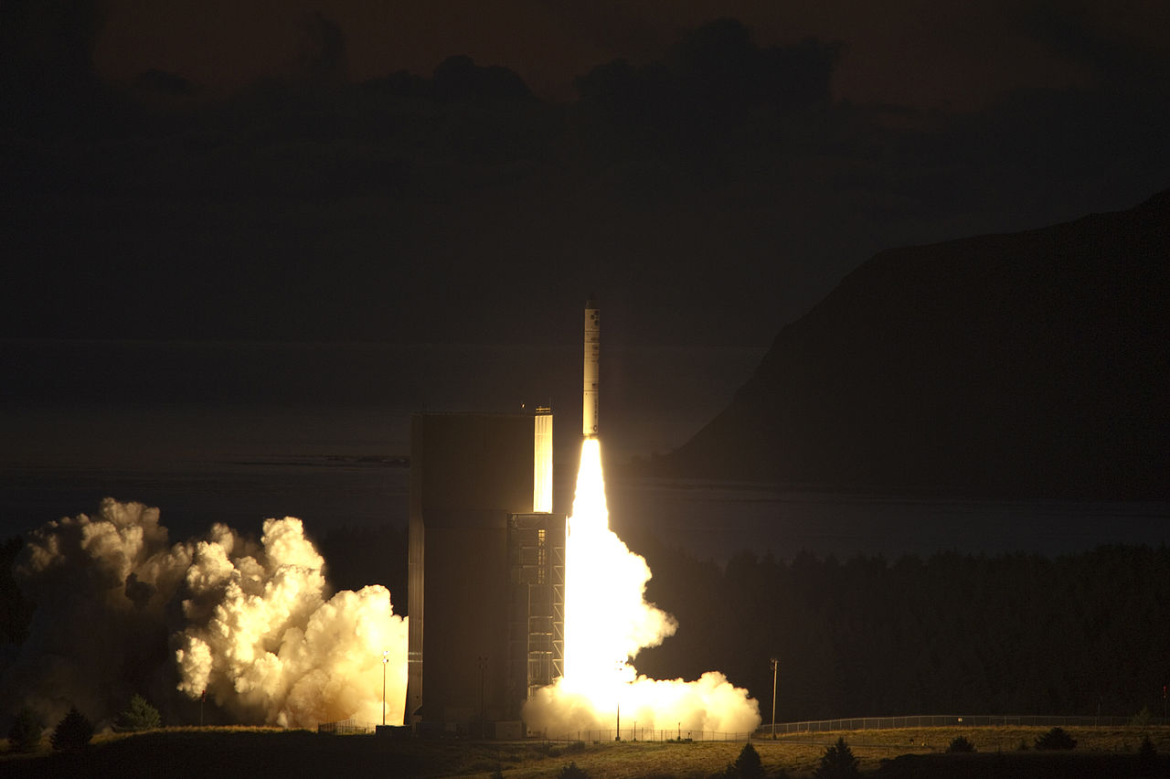 KODIAK, Alaska (Sept. 27, 2011) The Naval Research Laboratory tactical satellite IV (TacSat-4) lifts-off from the Alaskan Aerospace Corporation's Kodiak Launch Complex aboard a Minotaur IV+ launch vehicle. TacSat-4 will have a unique highly elliptical orbit which augments current geosynchronous satellite communications and will support to tactical handhelds. (U.S. Navy photo by John F. Williams/Released)