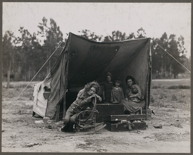 Okies in the Great Depression. From Library of Congress files