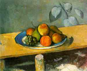 Paul Cézanne-1880: Apples, Peaches, Pears and Grapes